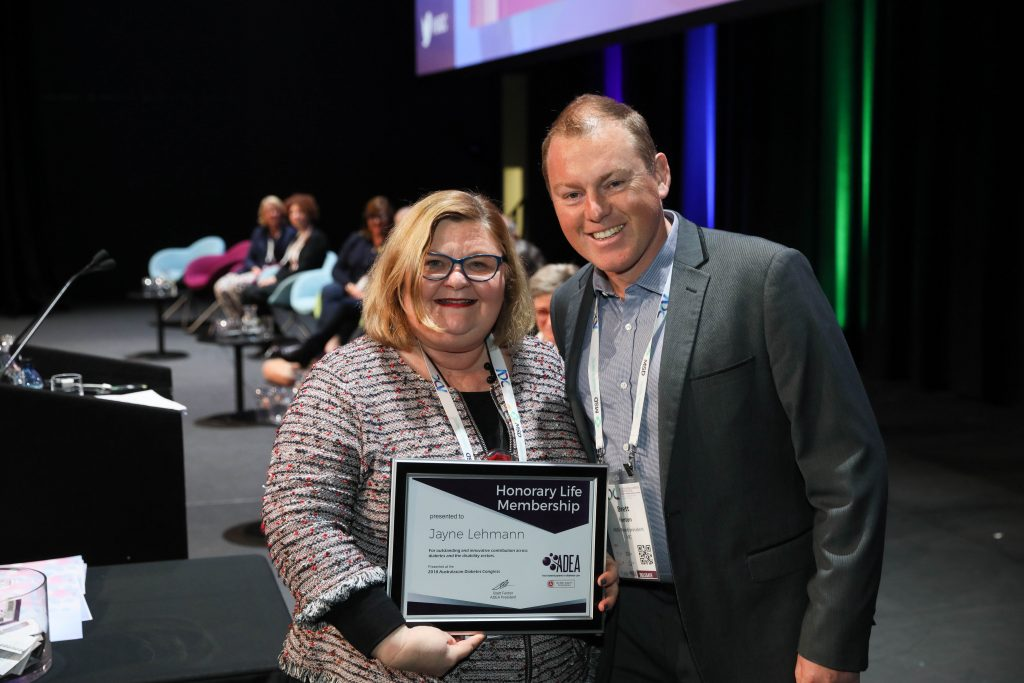 L-R: Jayne Lehman, ADEA Honorary Life Membership; Brett Fenton, ADEA President