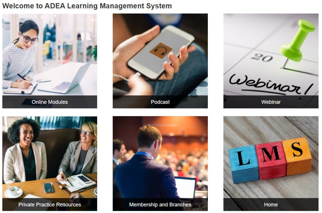 Please click on this banner to access the ADEA Learning Management System