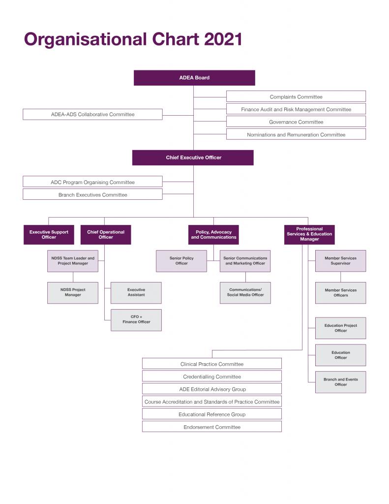 ADEA team: organizational chart